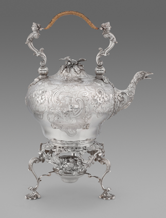 A George II Rococo Kettle on Stand