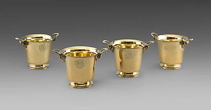 A Set of Four George II Wine Coolers