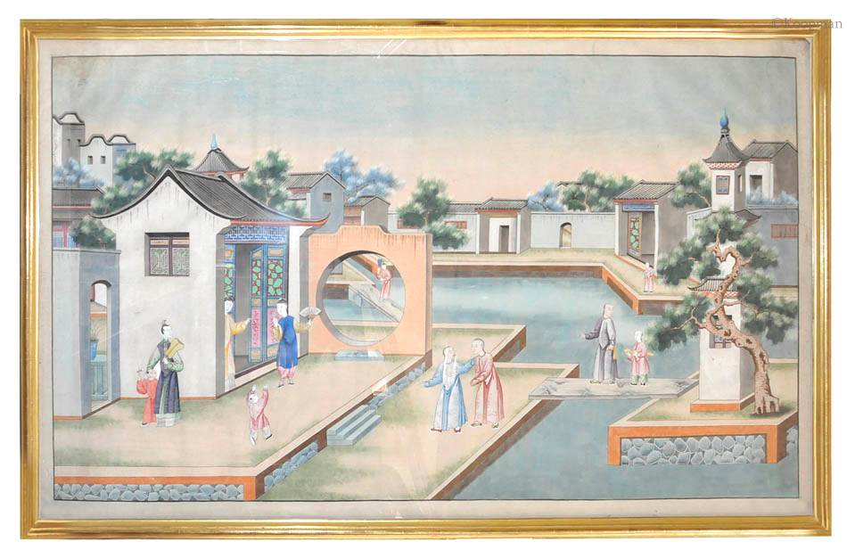 Two Chinese 19th Century Watercolours