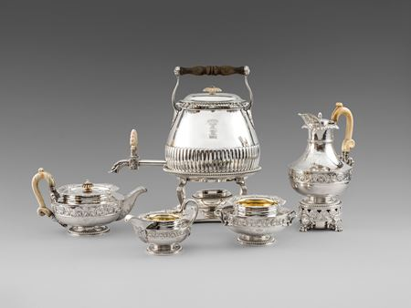 Paul storr tea coffee teaset antique silver London Georgian regency