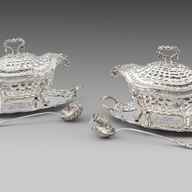 A Highly Important Pair of Soup-Tureens, Covers, Stands & ladles