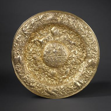 An Early English Side Board Dish for Sir George Jeffreys (1648-1688)
