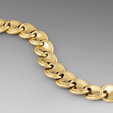 A Tactile Mid-Century Gold Link Bracelet