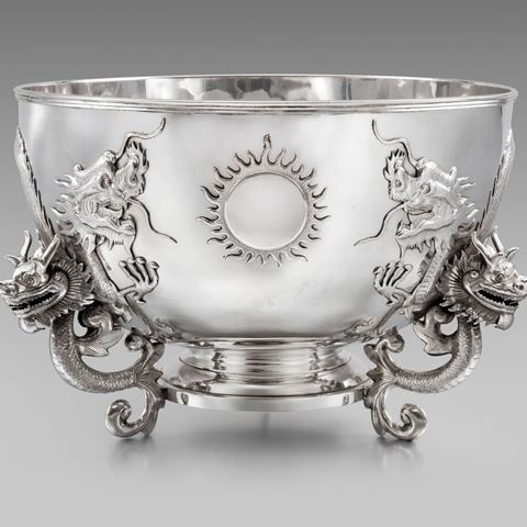 chinese silver bowl antique
