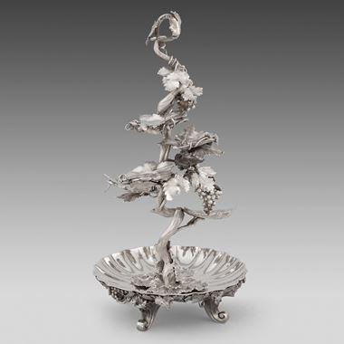 A Rare Dessert Centrepiece Silver