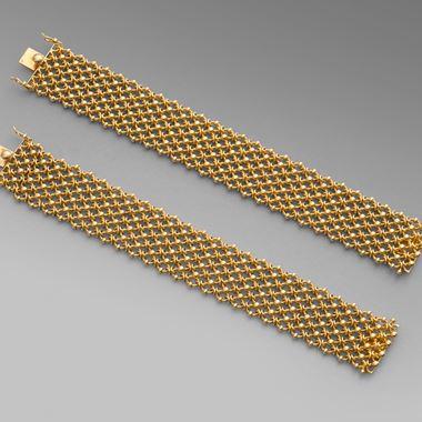 Set of Four Gold Bracelets, 'Resille'