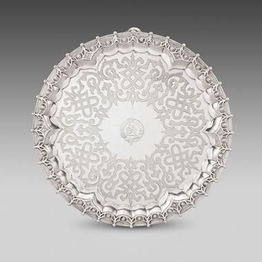 An Ornately Patterned Circular Salver