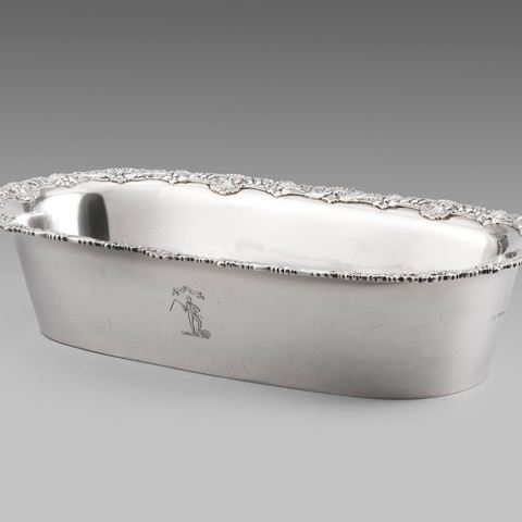 antique silver silverware tray knife platter centrepiece tableware George III  sterling English Paul storr Georgian regency vintage paulstorr London