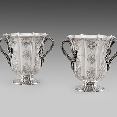 An Ornate Pair of Wine Coolers