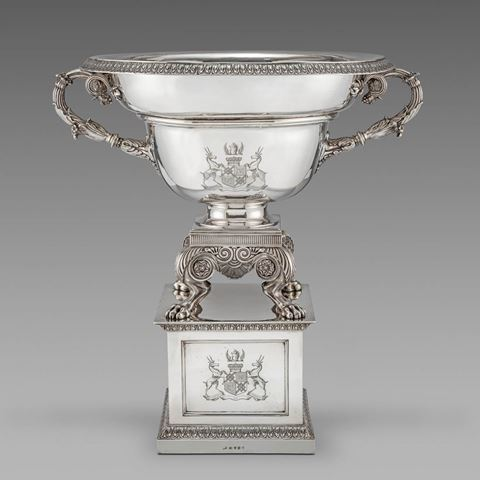 antique silver silverware vase bowl centrepiece dysart tableware George III  sterling English Paul storr Georgian regency vintage paulstorr London