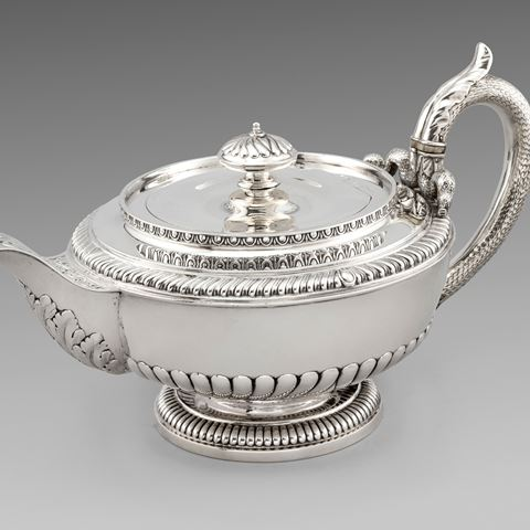 antique silver tea teapot Paul storr Georgian regency vintage paulstorr
