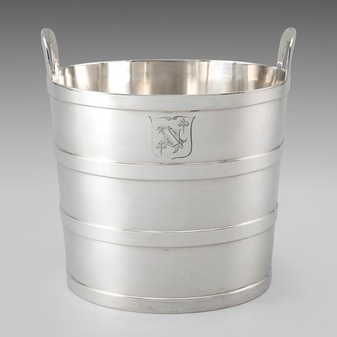 antique silver silverware wine cooler ice bucket Paul storr Georgian regency vintage paulstorr London