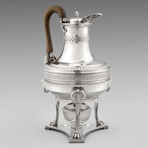 antique silver silverware coffee pot jug George III  sterling English Paul storr Georgian regency vintage paulstorr London
