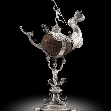 An Exceptional Dutch Silver Mounted Coconut Cup