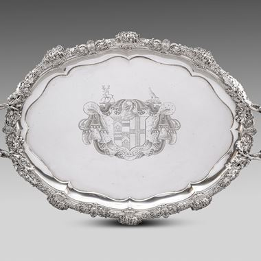 A Paul Storr Two-Handled Tray