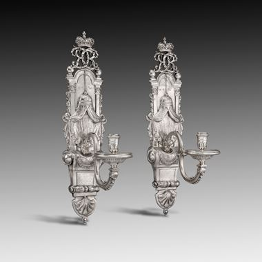 A Pair of Royal Wall Sconces