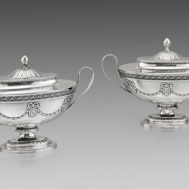 A Pair of Neo-Classical Sauce Tureens