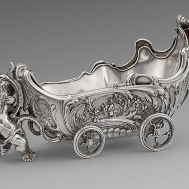 A Charming Pair of French Chariot Centrepieces