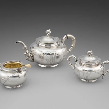 A 19th Century Chinese Three Piece Tea Service