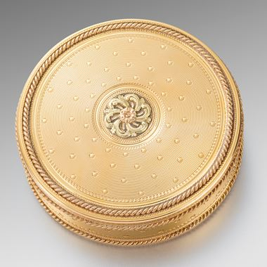 A French Round Gold Box