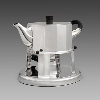 A Monumental Kettle on Lampstand