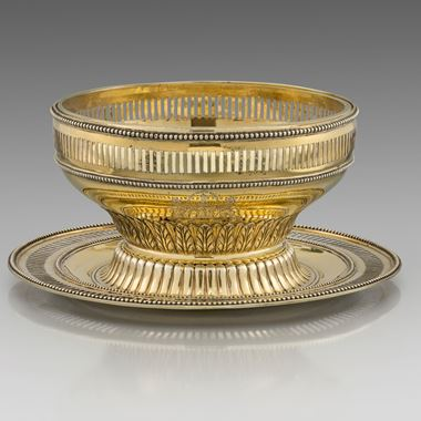 A Neo-Classical Pierced Bowl and Stand