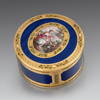 A French Gold and Enamel Box