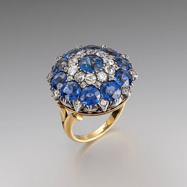 A Rare Montana sapphire and diamond ring/pendant