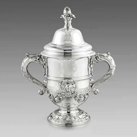 A Magnificent Two-Handled Cup & Cover