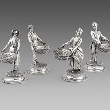 Set of Four Figural Salts