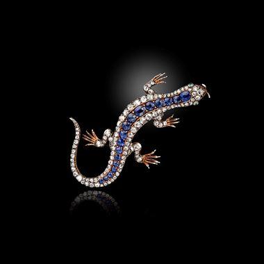 A Victorian Sapphire, Emerald and Diamond Brooch