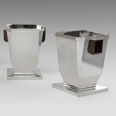 A Modern Pair of 'Art Deco Style' Wine Coolers