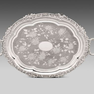 A 19th Century Chinese Silver Tray