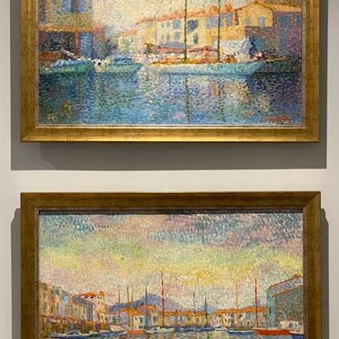 "A Pair of Landscapes, of ""Port Grimaud"" & ""St Tropez"""