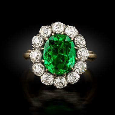 An Important Victorian Emerald and Diamond Ring, circa 1890