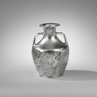 A Silver Portland Vase
