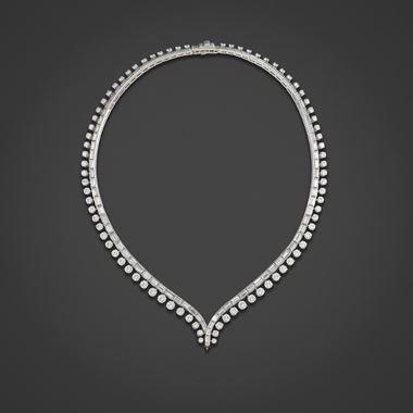 A Mid-Century diamond collar, 1950s