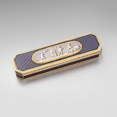 An Early 19th German Century Gold & Enamel Toothpick Box