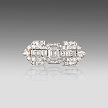 An Art Deco diamond brooch Cartier Paris, circa 1930