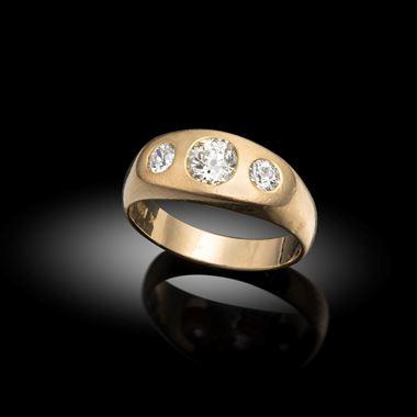 A Diamond Gypsy Ring, Early 20th Century