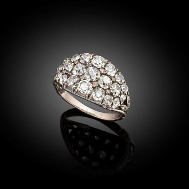 A Fine and Rare Antique Diamond ring Early 19th century