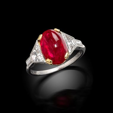 A Rare Art Deco Ruby and Diamond Ring, Ellis Brothers, Canada, circa 1925