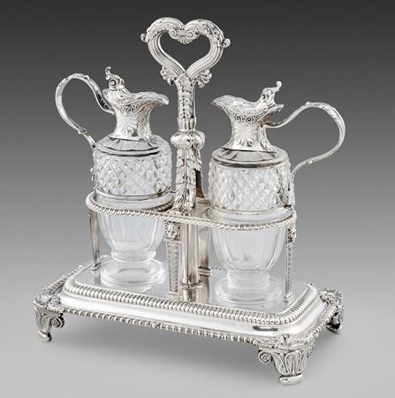 Paul storr cruet oil vinegar antique silver London Georgian regency