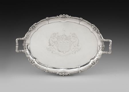 antique silver tray Paul storr Georgian regency  London