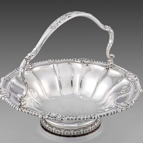 Paul storr cake bread basket best antique silver solid sterling royal London Georgian