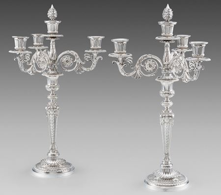 Paul storr candle candelabra antique silver London Georgian regency