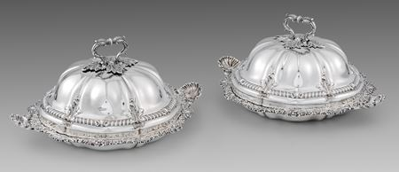 Paul storr entree dishes castle antique silver London Georgian