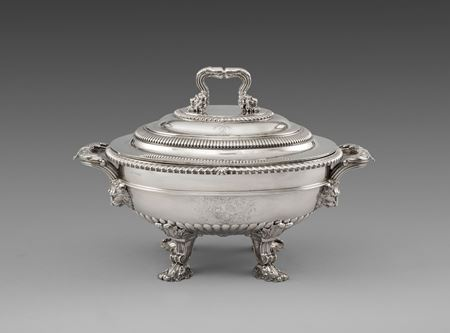 antique silver soup tureen Paul storr Georgian regency
