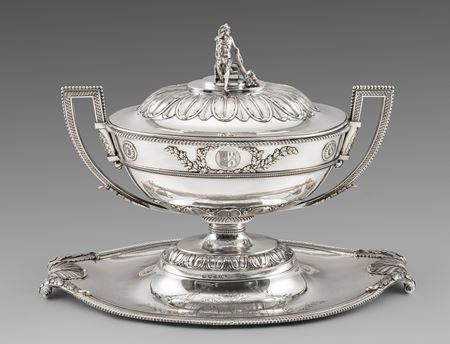 soup tureen American united Paul storr engraving English best sterling solid antique silver London Georgian