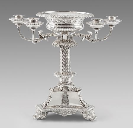 Paul storr candelabra candelabrum Waterloo royal centerpiece centrepiece antique silver London Georgian regency